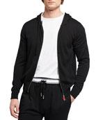 Kiton Men's Sea Island Cotton Full-Zip Hoodie Sweater