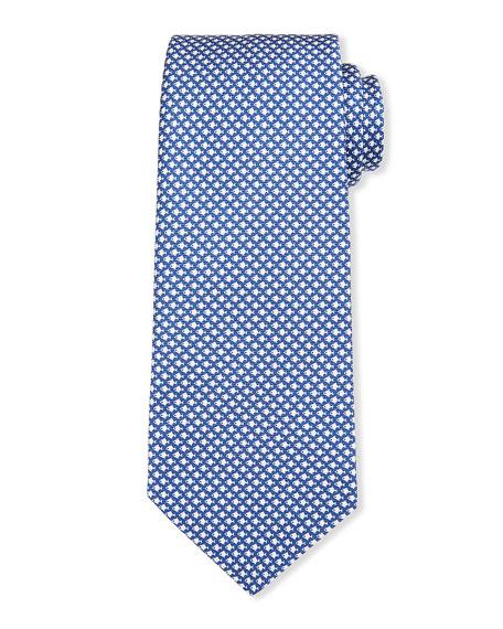 Kiton Men's Geometric Fish Silk Tie