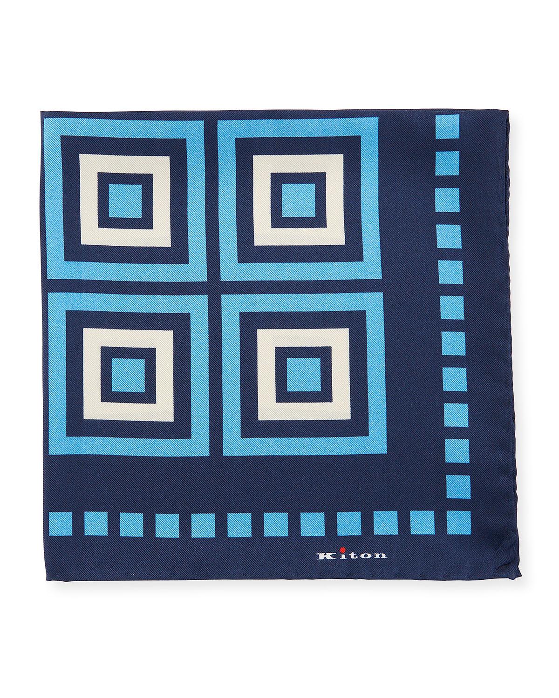 Men's Large Box Silk Pocket Square