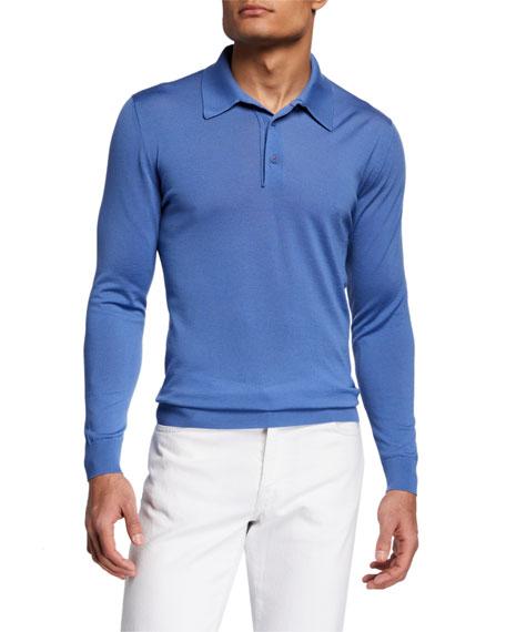 Kiton Men's Long-Sleeve Polo Shirt