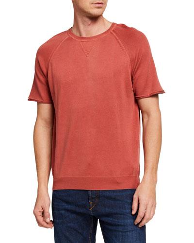 Men's Short-Sleeve Raglan Crewneck T-Shirt