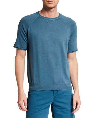 Men's Taormina Raglan-Sleeve Crewneck T-Shirt