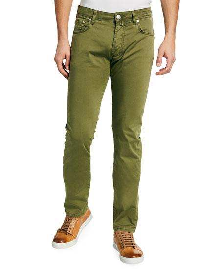 Jacob Cohen Men's Vintage Stretch-Cotton 5-Pocket Pants