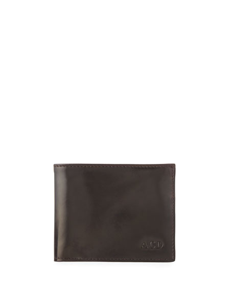 Abas Men's Slim Cordovan Leather Bifold Wallet