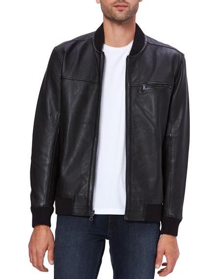 PAIGE Men's Bardot Leather Bomber Jacket
