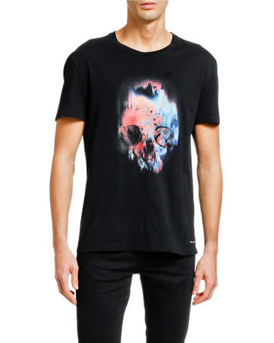 Men's Multicolor Skull Graphic T-Shirt