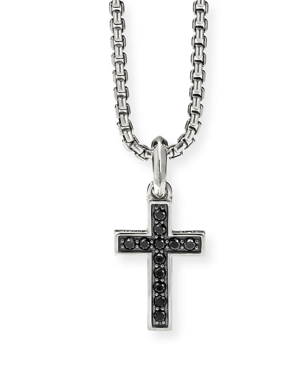 Men's Black Diamond Pave Cross Enhancer