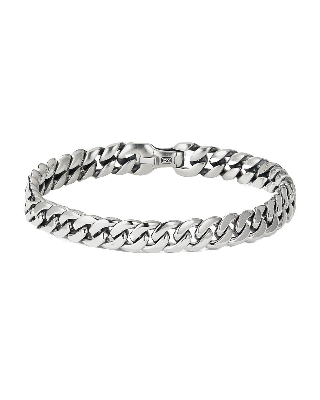 Men's Silver Curb Chain Bracelet
