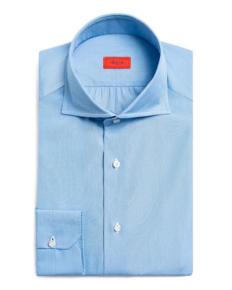 Isaia Men's Textured Poplin Dress Shirt