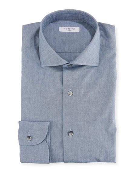 Boglioli Men's Chambray Dress Shirt