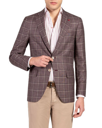 Men's Windowpane Check Sport Jacket