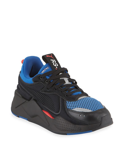 Men's RS-X Softcase Mesh & Leather Running Sneakers