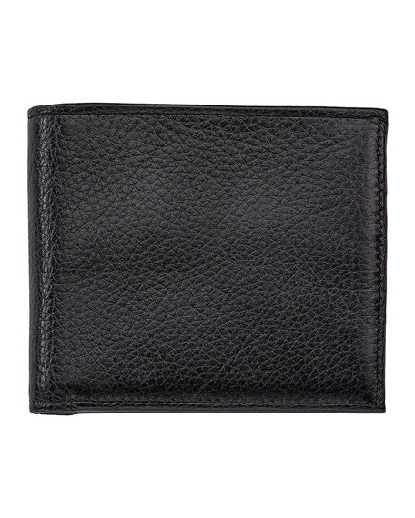 Graphic Image Men's Two-Tone Grained Leather Wallet