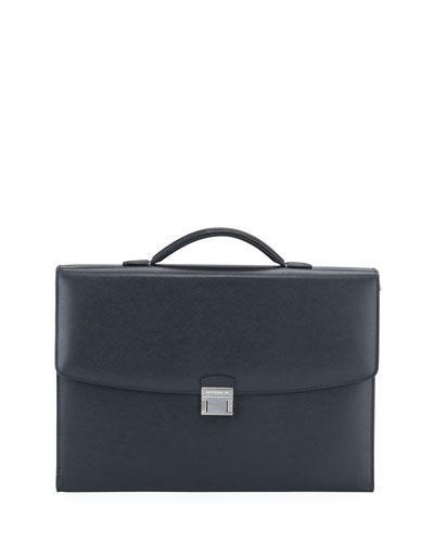Men's Sartorial Single-Gusset Briefcase