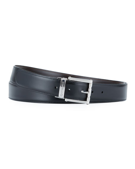 Montblanc Men's Reversible Cut-To-Size Casual Belt