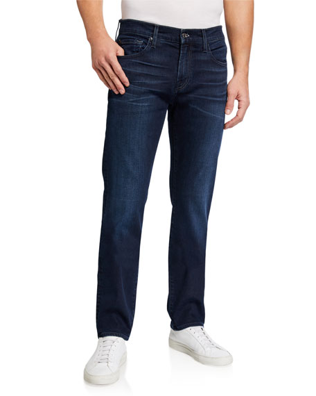 7 for all mankind Men's Slimmy Straight-Leg Jeans