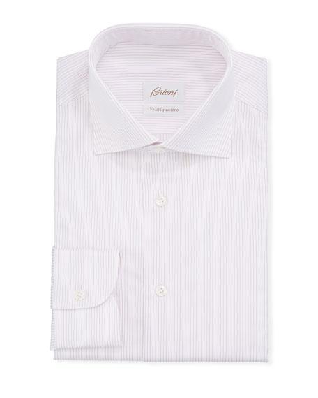 Brioni Men's Narrow Stripe Dress Shirt