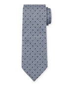 Ermenegildo Zegna Men's Heathered Dot-Print Tie, Blue