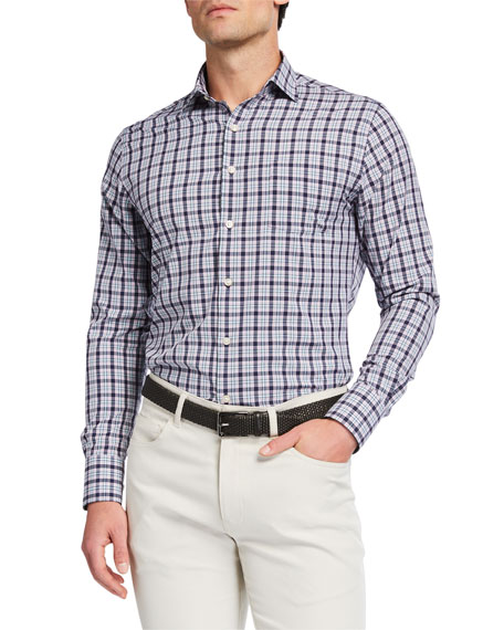 Peter Millar Men's Liam Plaid Sport Shirt