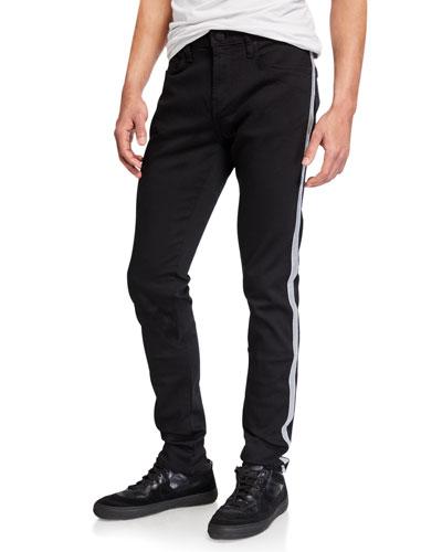 Men's Mick Side-Stripe Skinny Pants