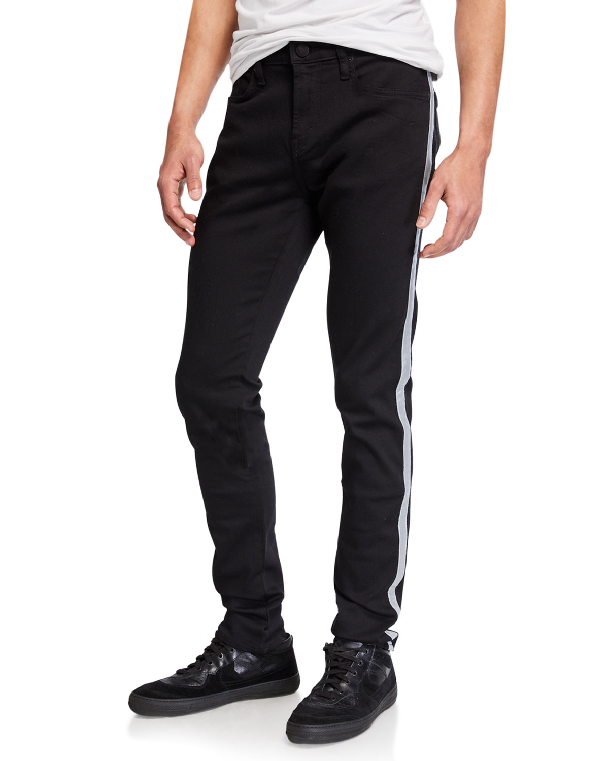 J Brand Mick Skinny Fit With Reflective Stripe - 100% Exclusive In Kromeflective