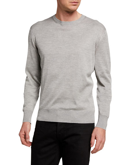 TOM FORD Men's Solid Long-Sleeve Crewneck Sweater