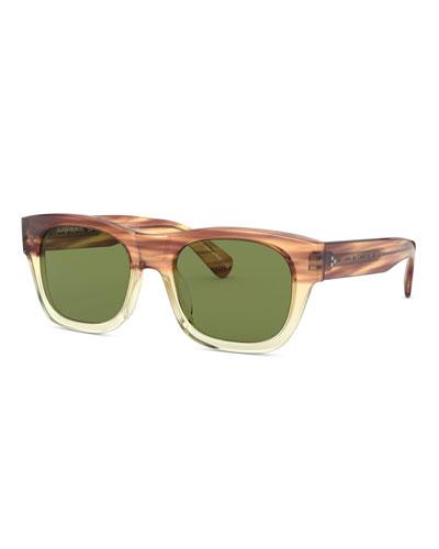 Men's Keenan Two-Tone Square Sunglasses