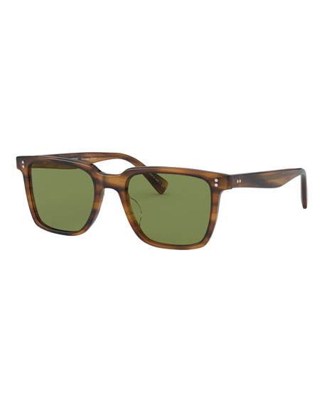 Oliver Peoples Men's Lachman Square Acetate Sunglasses