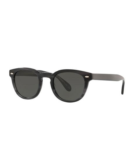 Oliver Peoples Men's Sheldrake Round Polarized Sunglasses