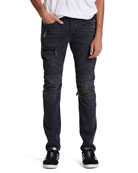 Hudson Men's The Blinder Biker Distressed Jeans