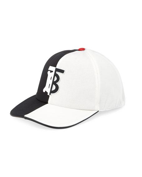 Burberry Men's Bicolor TB Trucker Hat