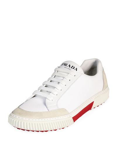 Men's Suede-Trim Low-Top Sneakers