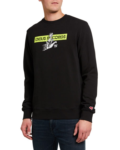 Deus Ex Machina Men's Street Skronk Graphic Sweatshirt