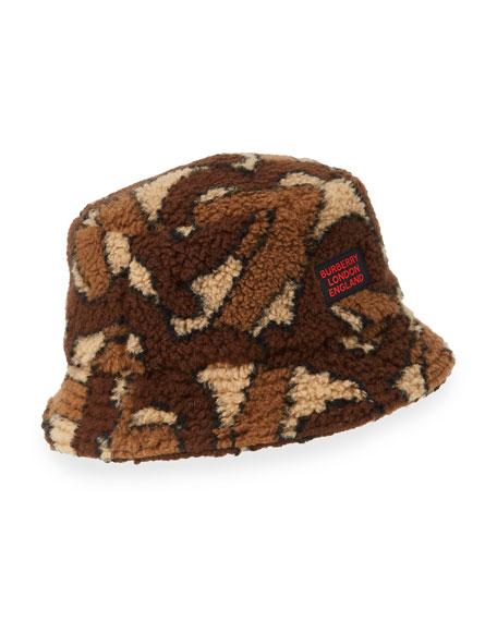 Burberry Men's Camo Fleece Bucket Hat