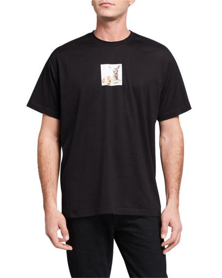 Burberry Men's Deer-Print Graphic T-Shirt