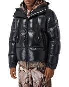 Burberry Men's Desford Nylon Zip-Front Puffer Coat
