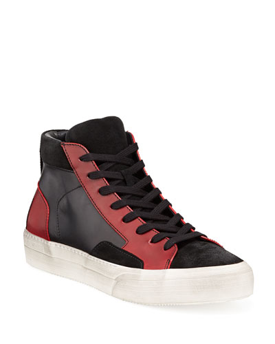 Men's 315 Mac Leather/Suede High-Top Skate Sneakers