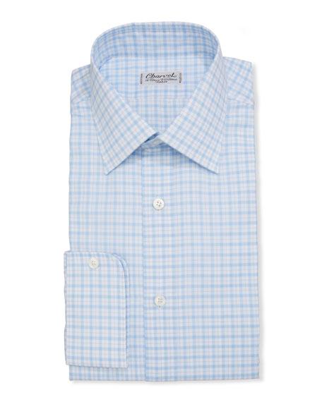 Charvet Men's Check French-Cuff Dress Shirt