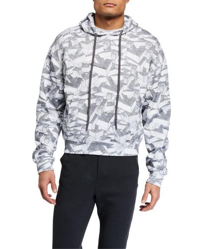 Men's Arrows Pattern Pullover Hoodie