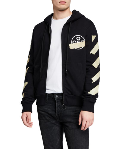 Men's Tape Arrows Zip-Front Hoodie