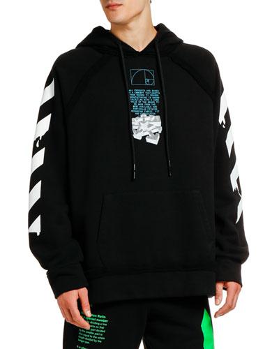 Men's Dripping Arrows Logo Hoodie Sweatshirt