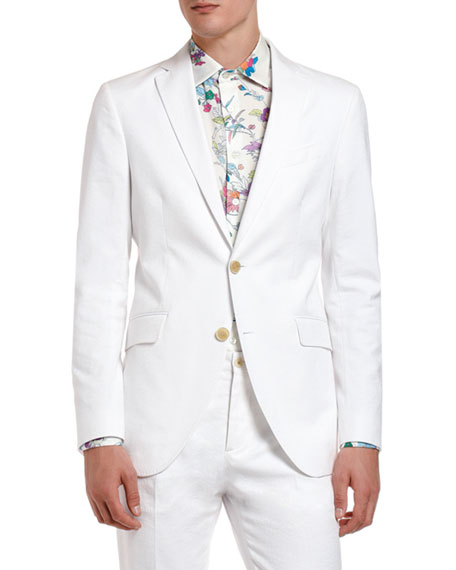 Etro Men's Tonal Jacquard Cotton Sport Jacket