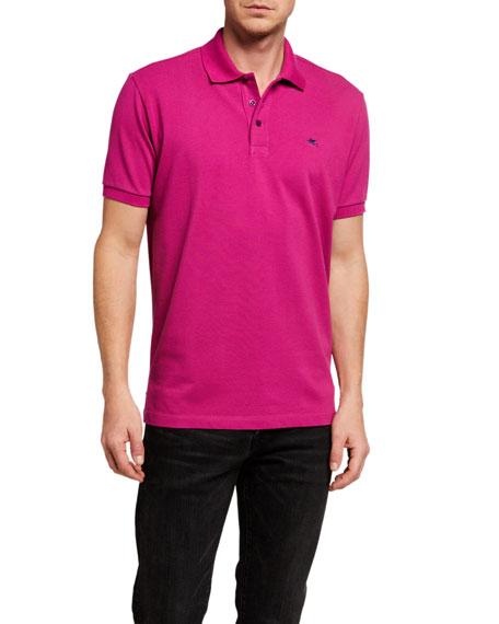 Etro Men's Classic Knit Polo Shirt