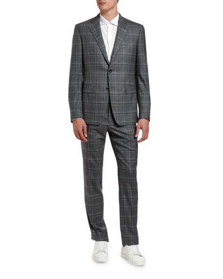 Etro Men's Two-Piece Plaid Wool Suit