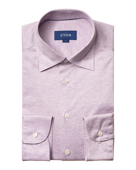 Eton Men's Slim-Fit Jersey Point-Collar Sport Shirt