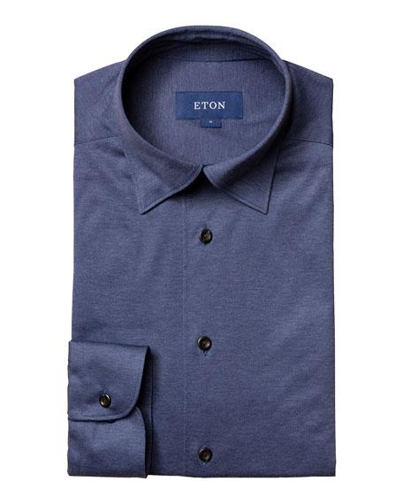 Eton Men's Slim-Fit Solid Jersey Knit Sport Shirt