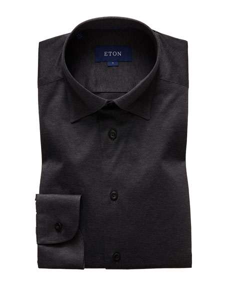 Eton Men's Slim-Fit Solid Jersey Sport Shirt