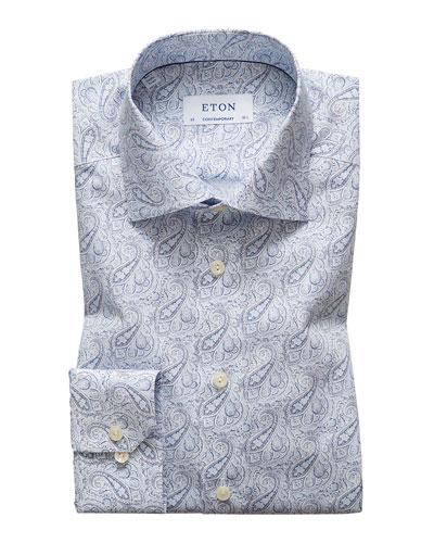 Men's Contemporary Paisley Dress Shirt