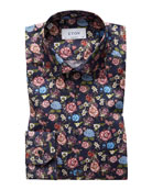 Eton Men's Contemporary Allover Floral Print Dress Shirt