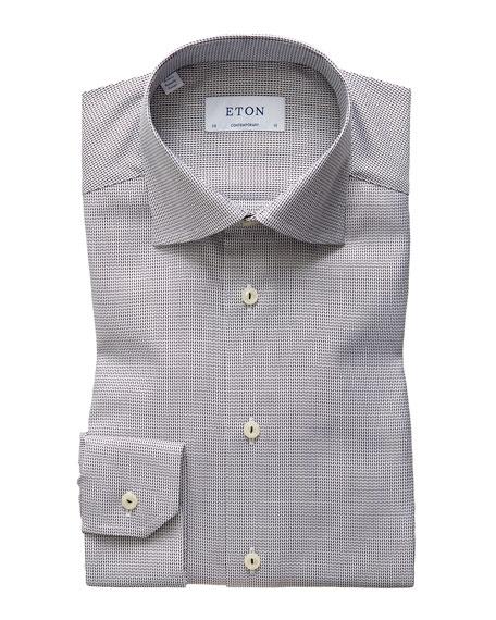 Eton Men's Contemporary Textured Solid Dress Shirt